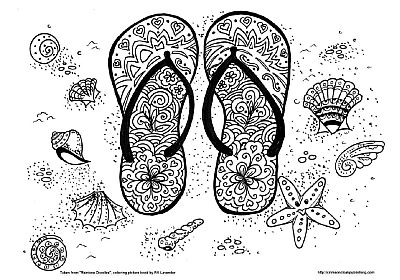 coloring page from rainbow doodles coloring book by fifi lavender